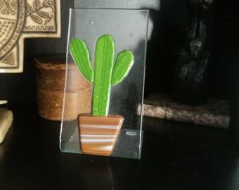 Fused Glass Cactus