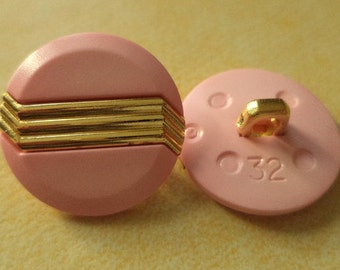 8 buttons 21mm pink gold (3678) button