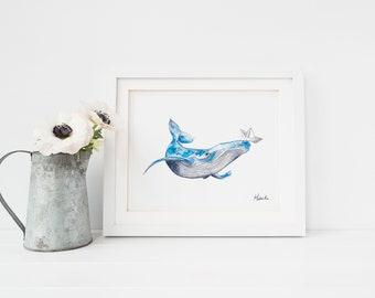 Affiche de baleine - Baleine affiche Hobeika Art