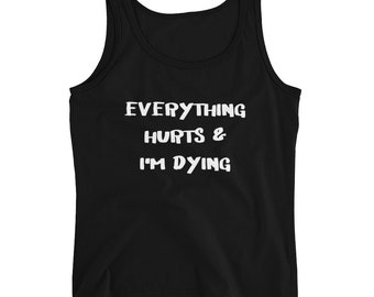 Workout shirts, gym life, gym clothes, working out, health, healthy, fitness, funny quotes, Ladies' Tank