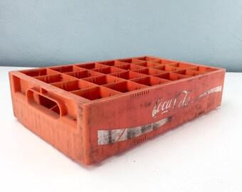Vintage Red and White Plastic Coca Cola Crate, Coke Box, Vintage Advertising, Enjoy Coke, Coca Cola Collectibles