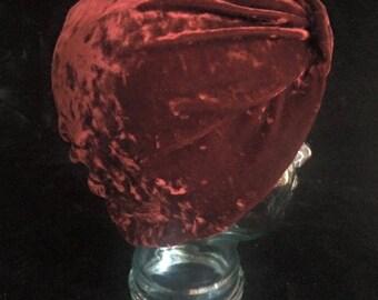 Burgundy Velvet Turban, Head Wrap, Headwear, Head Scarf, T Shirts, Rock T Shirts, Beanie