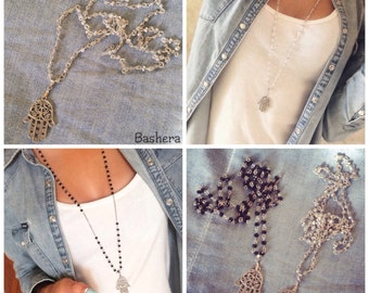 Hand of Hamsa Necklace ~ Hand of Fatima  Necklace ~ Hamsa Necklace