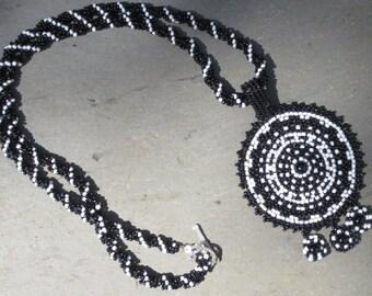 Ottawa beaded pendant necklace