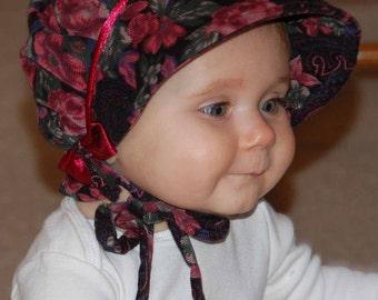 Corduroy Winter Baby Bonnet