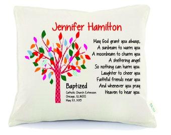 Christening Gift pillow, Baptism Gift, Personalized pillow, personalized baby pillow, Baptism gift pillow