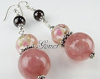 GARNET GEMSTONE EARRINGS (Sparkling Burgundy)  by Gonet Jewelry Design