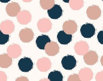 ON SALE Blush by My Mind's Eye for Riley Blake Sparkle Puffs Cream