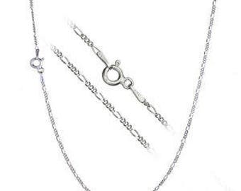 Sterling Silver Figaro Chain/ Necklace