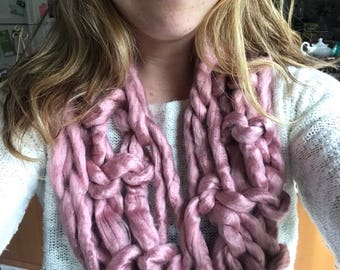Super Soft Dusty Rose Cowl