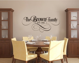 Family Name - Decals - Monogram - Wall Decal - Wall Decals - Vinyl Decals - Housewares - Home Décor - Wedding Gift - Monograms