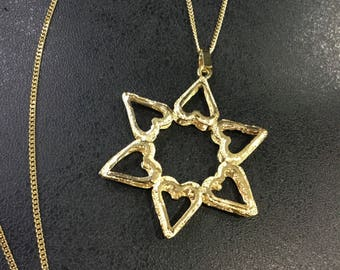 14ct gold Star of David on chain