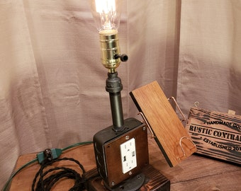Industrial Steampunk Cell Phone Charger Stand - USB Cell Charger