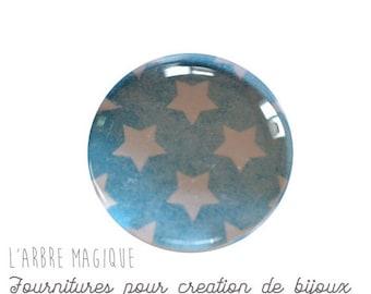 2 cabochons to glue glass 16 mm M333 stars