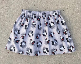 READY TO SHIP, Disney Skirt, Mickey & Minnie Skirt,  Mickey Skirt, Minnie Skirt, Baby Skirt, Toddler Skirt, Girls Skirt, Children's Skirt