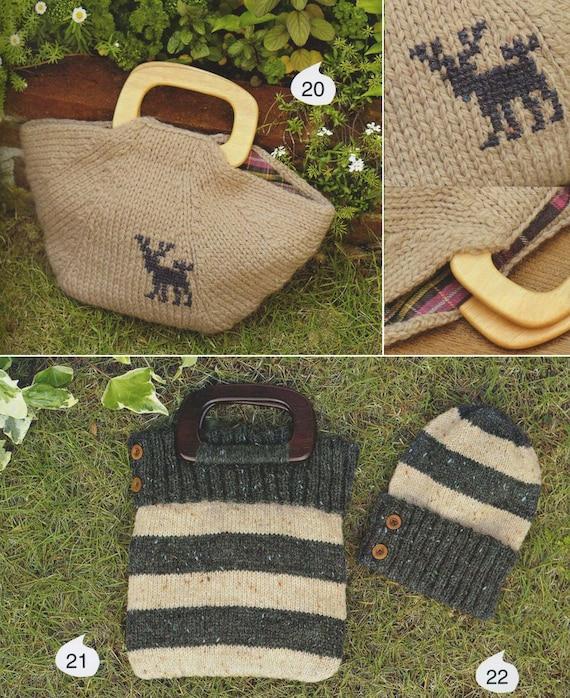 25 Crochet Knitting Bags - Crochet Bag Patterns - Knit bag patterns ...