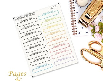 Appointment Planner Stickers/ Functional Stickers/ Planner Stickers/ Erin Condren/ Recollection/ Happy Planner/ Plum Paper  #121