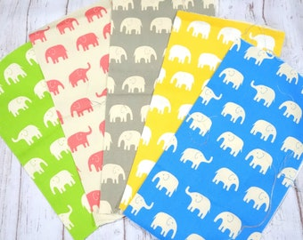 Elephat fabric Print scrap set of 5  pieces sc07