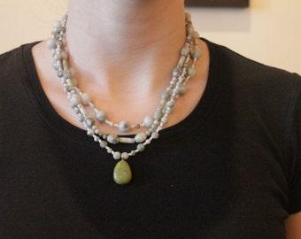 Green Jumble Necklace
