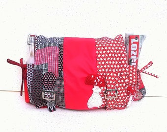 """Large Hobo items spirit Shepherd's purse / bag or of live, """"Funky with the ammanites PIP"""" patterns"""