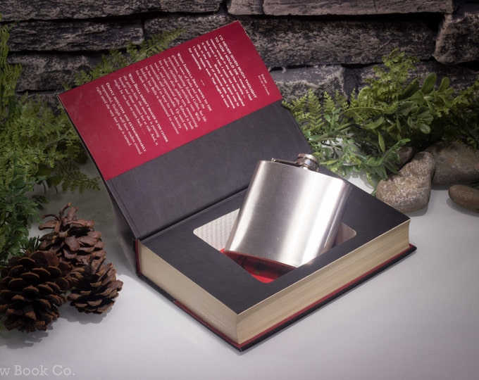 Hollow Book Safe and Hip Flask  - Twilight