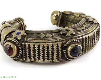 Tibetan Silver Bracelet Antique 117567