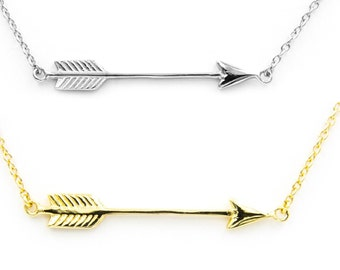 Arrow Necklace, 925 Sterling Silver Arrow Necklace