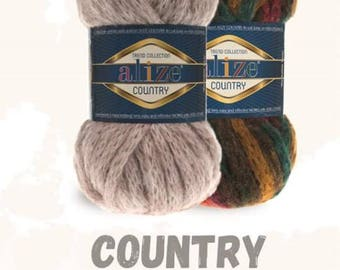 Alize Country New, Wool yarn, super bulky yarn,acrylic yarn, Knitting yarn, Soft yarn, winter yarn, crochet yarn