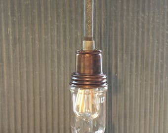 Pair-Vintage New Condition Multi Electric Manufacturing explosion proof pendant light fixtures. This listing is for two fixtures