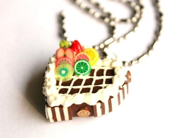 Miniature Polymer Clay Beads for Foods Jewelry Necklace 1 pcs