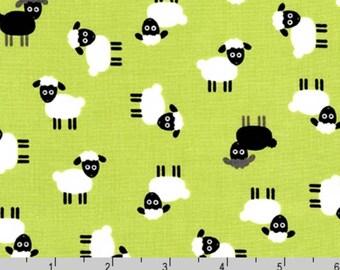 Urban Zoologie Minis - Lamb Sheep Green by Ann Kelle from Robert Kaufman