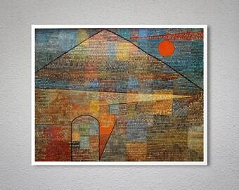 Ad Parnassum by Paul Klee Fine Art Print - Poster Paper, Sticker or Canvas Print / Gift Idea