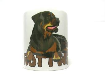 Rottweiler Mug Rottie Mug Rottweiler Dog Mug Rottweiler Gift Coffee Mug Dog Lover Gift.