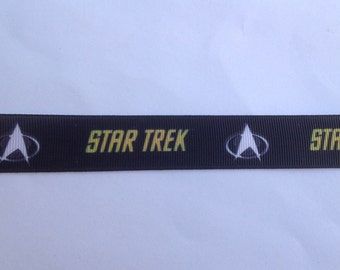 "7/8""  Star Trek  inspired Grosgrain Ribbon  -  By The Yard"