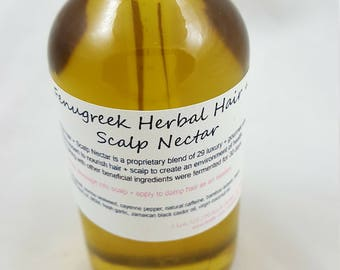 Fenugreek Herbal Hair + Scalp Nectar, fenugreek hair oil, hair oil, hair growth oil, hair oil, best hair oil, flaxseed hair oil
