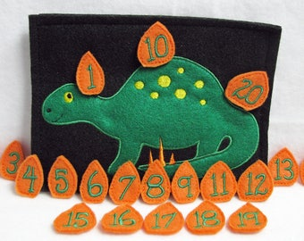 Stegosaurus Counting Game - Numbers 1 to 20