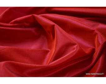 Taffetas changeant acetate rouge fuchsia