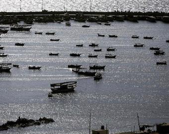 Sea of Galilee Fisher photo print