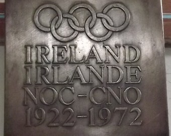Ireland Commerative Medallion 50 Year Membership of Olympic Movement as a Country in it own right.