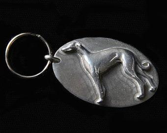 Greyhound Keychain - Whippet Keychain - Sighthound Galgo Key Ring