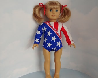 Stars and Stripes  Leotard 18 inch doll clothes