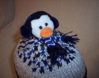 Penguin Topper Beanie child/young adult size