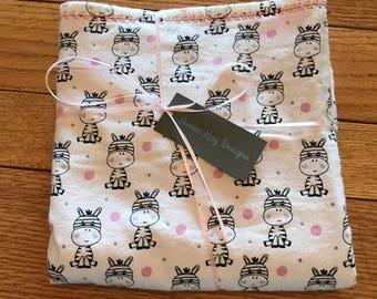 Lovely Little Zebras Baby Blanket