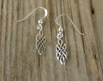 925 Sterling Silver Celtic Earrings Celtic Knot Earrings