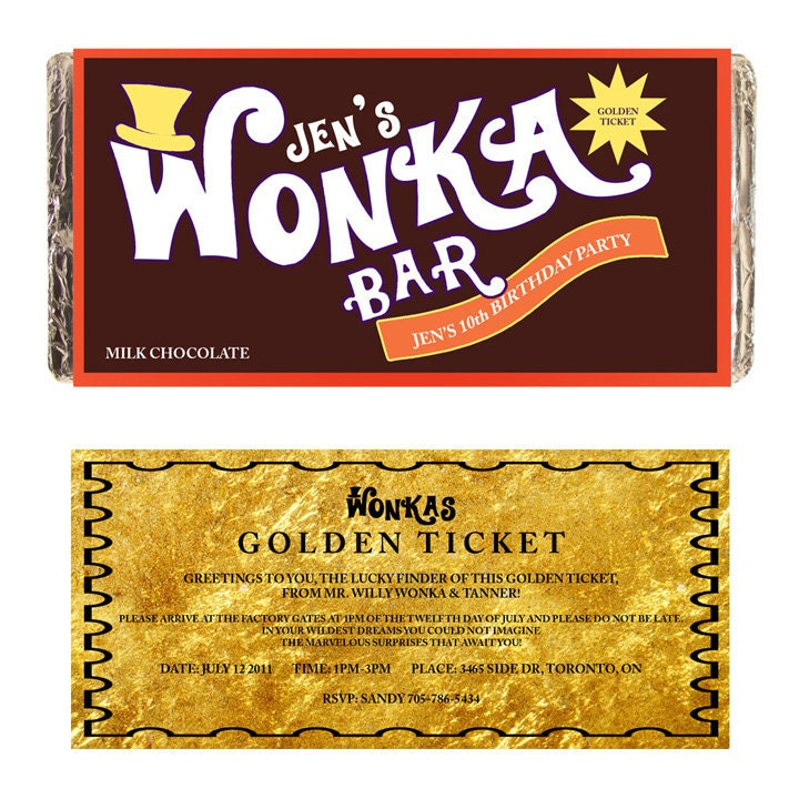 Fine Willy Wonka Party Invitations Printable Picture Collection ...