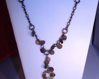 Copper and Agate Necklace