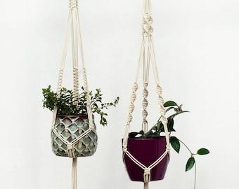SET of 2, Macrame Plant Hanger, Modern Planter, Modern Hanging Planter, Plant Hanger Macrame, Macrame Plant Holder, Hygge