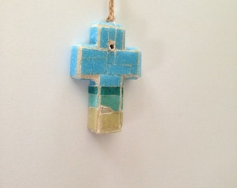 South Atlantic Mosaic Wall Cross or Christmas Ornament I