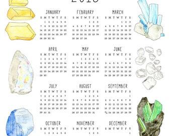 2018 Birthstone Calendar