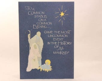 """NEW! Vintage """"Christmas"""" by Morning Star Greeting Card. 6 Cards with Envelopes."""